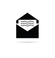 letter with message icon vector image