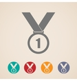 set of medal icons vector image