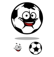 Soccer ball character with happy face vector image vector image