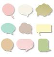 Pastel Speech Bubble vector image vector image
