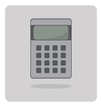 flat icon calculator vector image