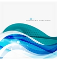 Blue business corporate wave line background vector image vector image
