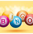 bingo balls vector image