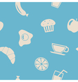 Seamless background with breakfast vector image
