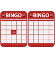 Blank bingo cards vector image vector image