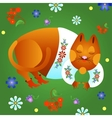 Fabulous red cat vector image