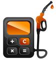 Fuel calc vector image