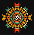 Mandala made with hands and indian om sign vector image