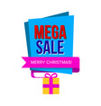 sale banner with gift box vector image