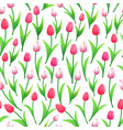 spring tulips seamless pattern vector image
