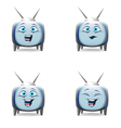 Funny cartoon retro tv character mimics vector