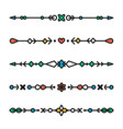 set of colorful line geometric dividers vector image