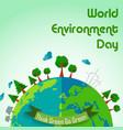 world environment day concept earth globe backgrou vector image