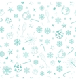 Seamless pattern from christmas symbols vector image