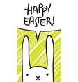 easter bunny speech bubble vector image vector image