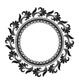 Beautiful Deco Floral Circle vector image