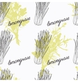 Hand drawn lemongrass branch and handwritten sign vector image