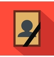 Photo of deceased flat icon vector image