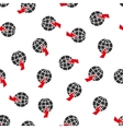Global Shock Flat Seamless Pattern vector image