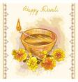 Happy Diwali Festive Candle vector image