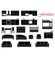 Assorted home furniture set vector image
