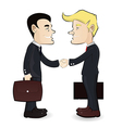 Business man shaking hands vector image