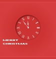 Christmas clock vector image