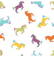 colorful horse seamless pattern vector image