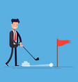 concept of a good deal businessman or manager vector image