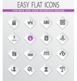 flat industry icons set vector image