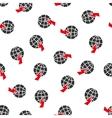 Global Shock Flat Seamless Pattern vector image