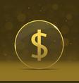 Golden dollar label vector image