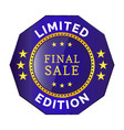 limited edition badge vector image