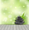 Zen stones on the wood texture meditative oriental vector image