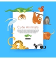 Wildlife background Zoo animals banner for vector image