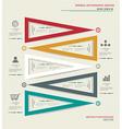 Modern box Design Minimal style infographic vector image