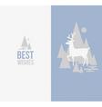 Elegant winter design with deer vector image