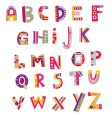 whimsical alphabet vector image vector image