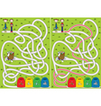 recycling maze vector image vector image