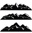 mountainscape vector image vector image