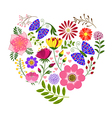 Springtime colorful flower and butterfly backgroun vector