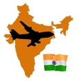 fly me to the India vector image vector image