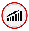 icon graph vector image
