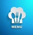 menu chef paper effect vector image