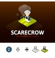 Scarecrow icon in different style vector image