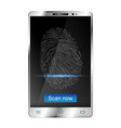 smartphone with fingerprint scanners on display vector image