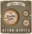 Vintage Labels template set Retro logo design vector image