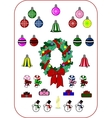 Christmas and New Year collection vector image