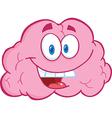 Brain Cartoon Character vector image vector image