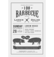 Vintage I Do Barbecue wedding invitation card vector image vector image